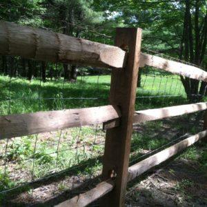 Old-Fashioned Sawn Rail
