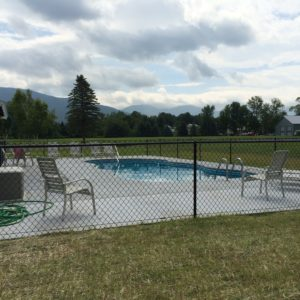 Pool fence in Jeffersonville VT