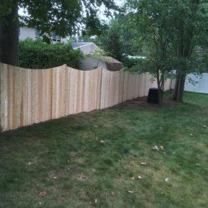 Scalloped White Cedar Privacy Fence