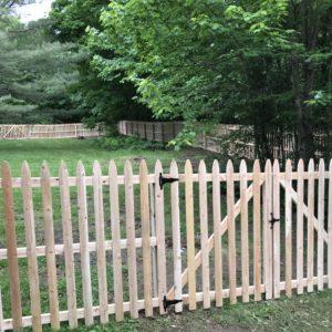 5' White Cedar Picket Fence