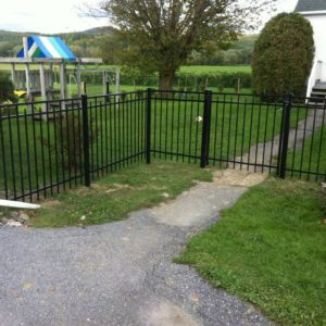 4 foot aluminum with gates