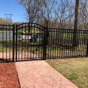 "54"" Arched Aluminum Gate"